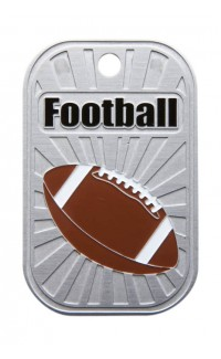 DOG TAG FOOTBALL W CHAIN