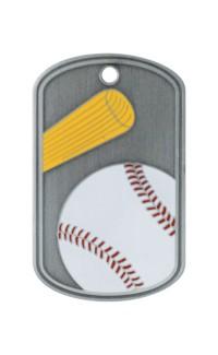 Baseball Dog Tag w/chain