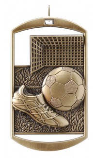 MEDAL DOG TAG SOCCER GOLD