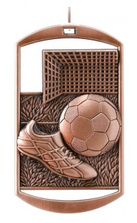 MEDAL DOG TAG SOCCER BRONZE