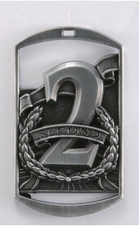 MEDAL DOG TAG 2nd SILVER