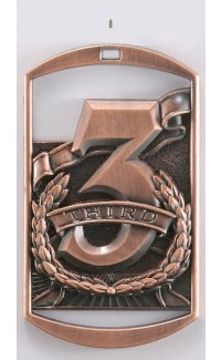 MEDAL DOG TAG 3rd BRONZE