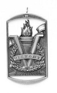 MEDAL DOG TAG VICTORY SILVER