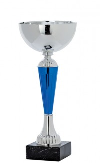 """Economy Cup Silver, Blue 10.25"""""""