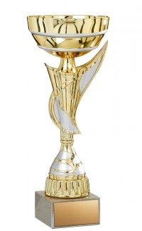 """11.5"""" Economy Cup Gold with Silver Wing"""