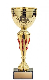 """Economy Cup, Gold/Red Accent 10.5"""""""