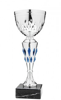 """Economy Cup Silver, Blue Jewels 11.5"""""""