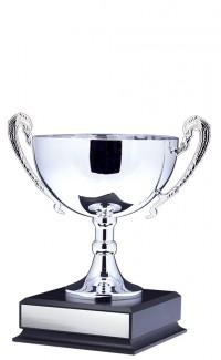 """8.5"""" Prestige Cup, Silver w Handles"""