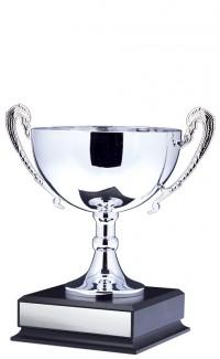 """10"""" Prestige Cup, Silver w Handles"""