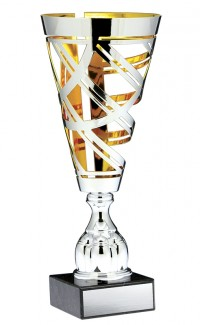 "Prestige Series Cup, Silver/Gold 19"""