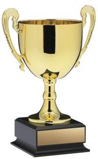 "Prestige Cup, Gold w Handles 13"""
