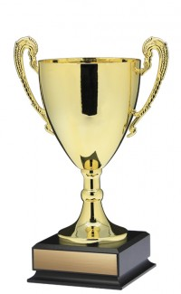 "13"" Prestige Cup, Gold w Handles Large"