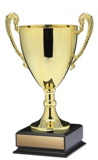 "14"" Prestige Cup, Gold w Handles Large"