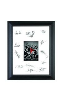 """8 1/2"""" x 11"""" Frame with Black Mat., Holds 4"""" x 6"""" Photo"""