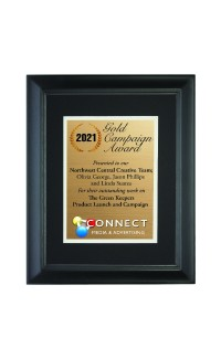 """8 1/2"""" x 11"""" Frame with Black Mat., Holds 6"""" x 8"""" Photo"""