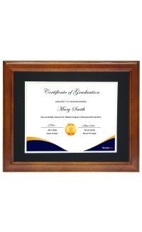 """11"""" x 14"""" Frame with Mat., Holds 8 1/2"""" x 11"""" Document"""