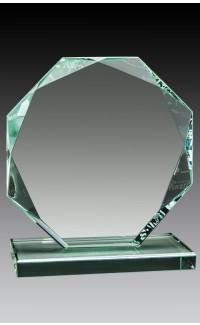 "Glass Jade Octagon, 6"""