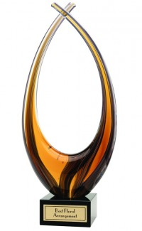 Amber Rise Art Glass, 10""