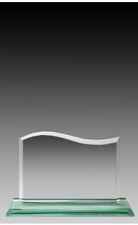 """Glass Jade Wave, 4.75"""""""