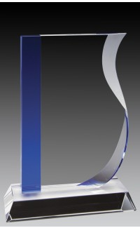 """Crystal Wave w/Blue Accent, 8 1/2"""""""