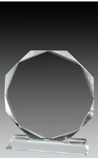 "Crystal Octagon, 7 1/2"""