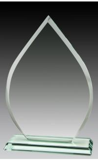 """Jade Glass Tear Drop, 9"""""""