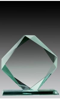 """Glass Jade Diamond, 6.75"""""""