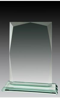 "Jade Glass Rectangle, 7 1/2"""