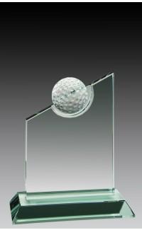 "Jade Glass Golf Ball, Slant 5 1/2"""