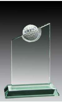 "Jade Glass Golf Ball, Slant 6 1/2"""