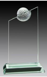 "Jade Glass Golf Ball, Slant 7 1/2"""