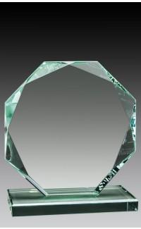 "Glass Jade Octagon, 5"""
