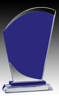 """Glass Aqua Curve Peak 9.25"""""""