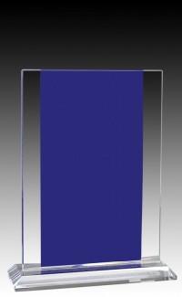 """Glass  Aqua Rectangle 7.5"""""""
