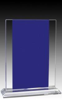 """Glass  Aqua Rectangle 8.5"""""""