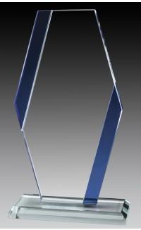 """Glass Pillar Blue Accent, 9 1/2"""""""