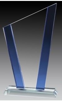 Glass Slope Blue Accent, 8 1/4""