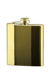 6 oz Flask, Bright Gold