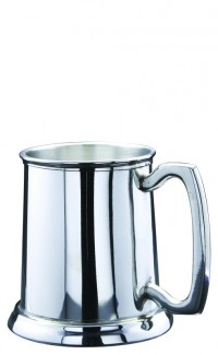 Tankard Pewter 16 oz w Glass Base