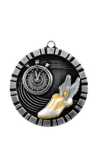 MEDAL IMPACT 3-D TRACK SILVER
