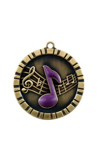 MEDAL IMPACT 3-D MUSIC GOLD