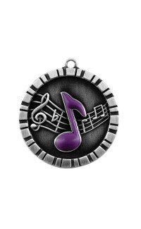 MEDAL IMPACT 3-D MUSIC SILVER
