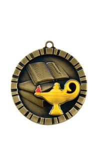 MEDAL IMPACT 3-D LAMP GOLD