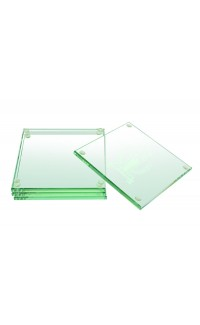 Glass Coasters set of 4, Clear