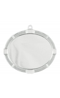 Insert Medal Oval Impact, Bright Silver