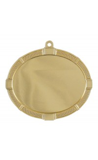 Insert Medal Oval Impact, Bright Gold