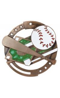 Baseball Colour Enamel, Bronze