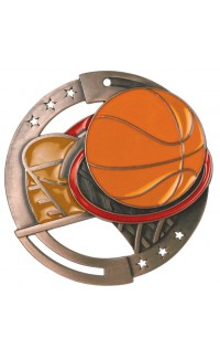 Basketball Colour Enamel, Bronze