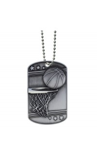 Basketball Dog Tag with Ball Chain