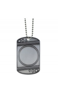 Insert Holder Dog Tag with Ball Chain
